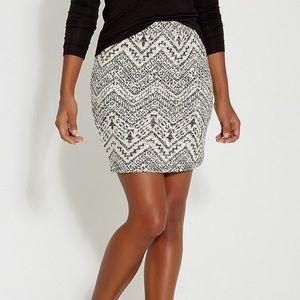 Maurices Black/White/Sparkle Sweater Skirt